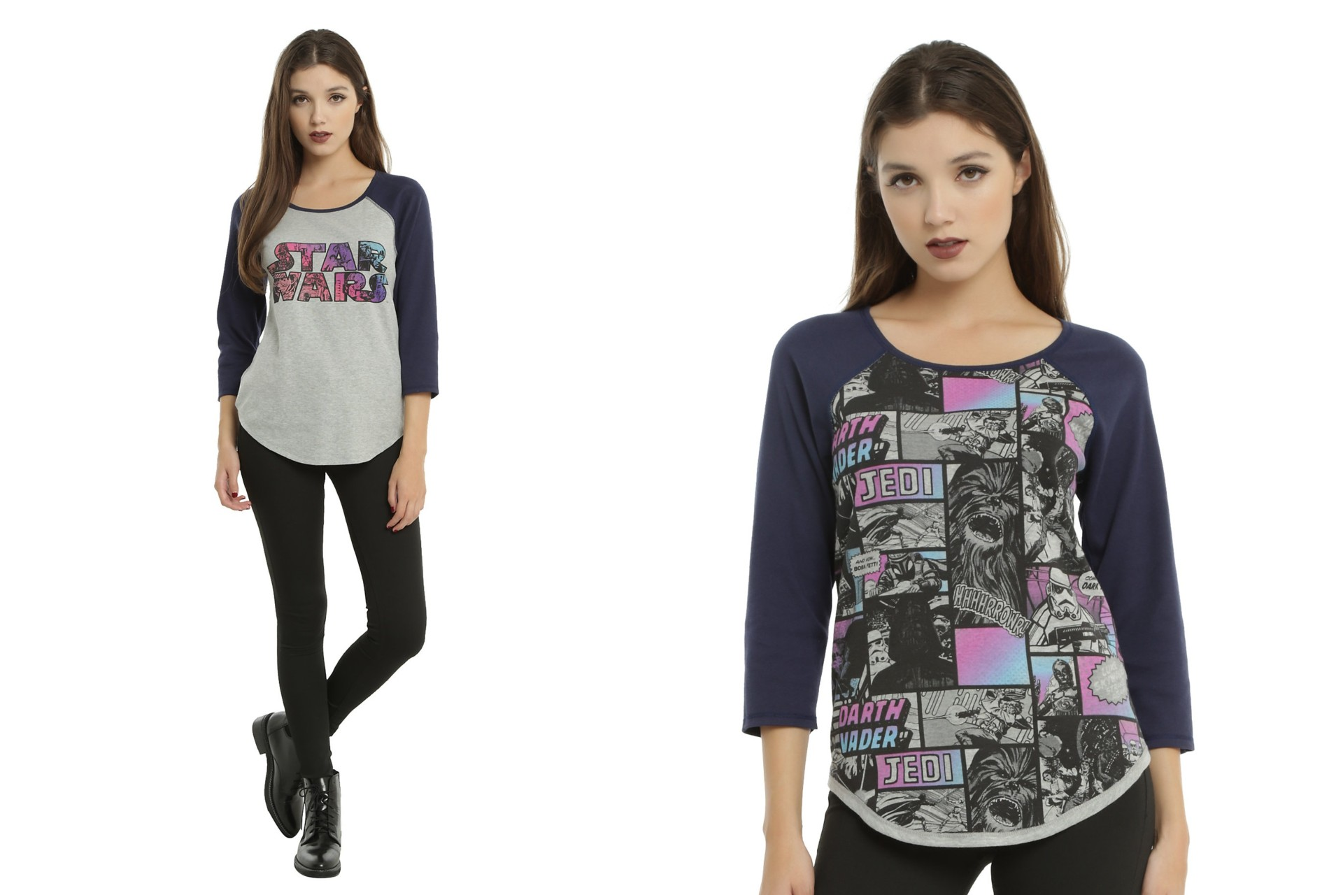 Hot Topic - women's Star Wars reversible raglan top