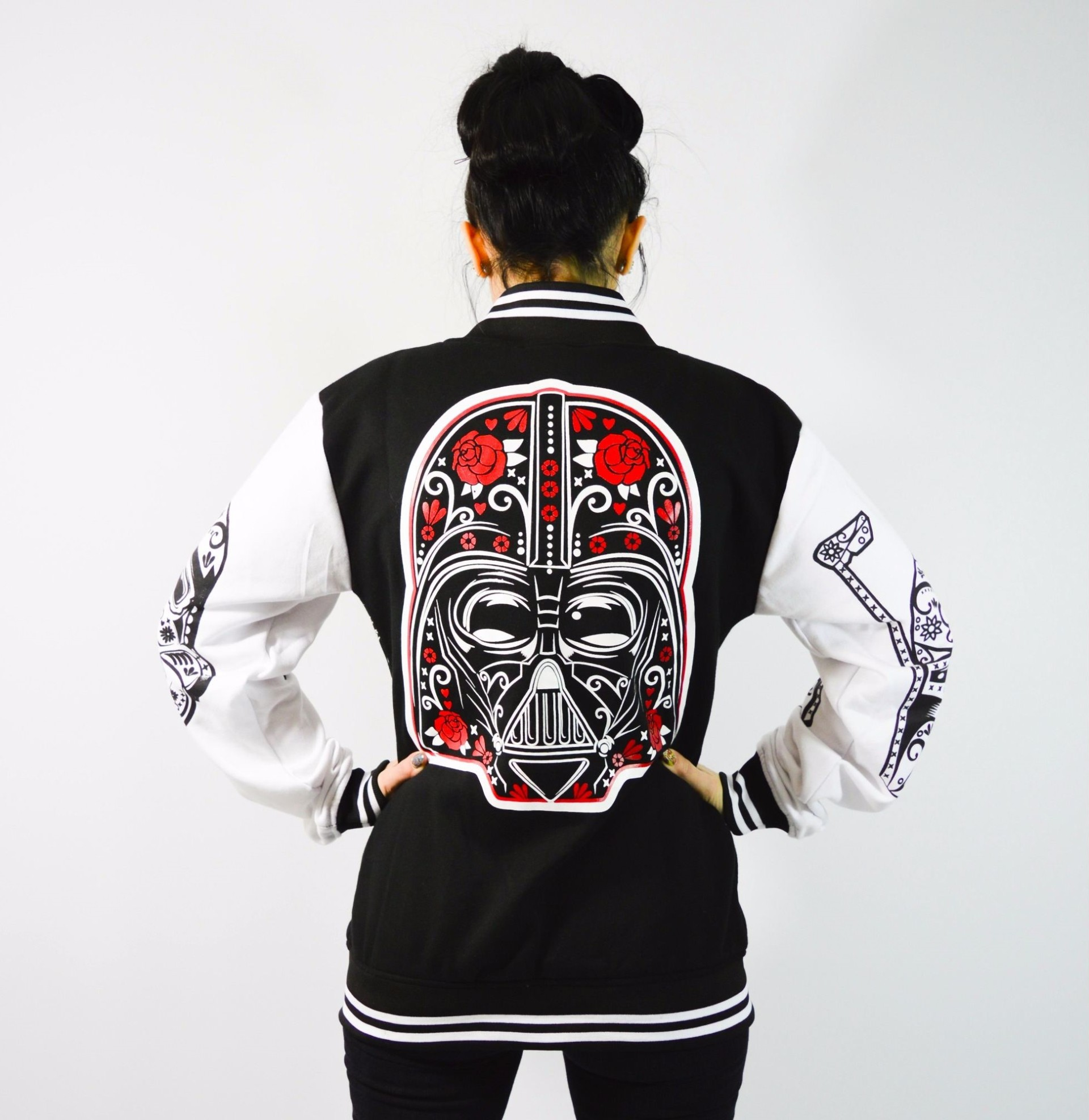 Elegant My Odd Girl   Sugar Skull Star Wars Varsity Jacket