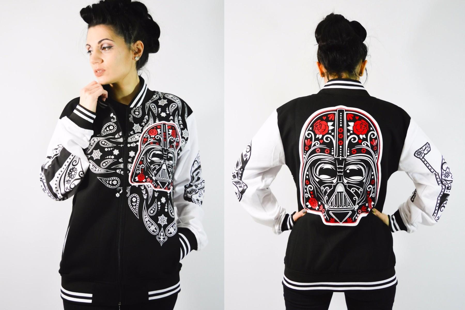 My Odd Girl - sugar skull Star Wars varsity jacket