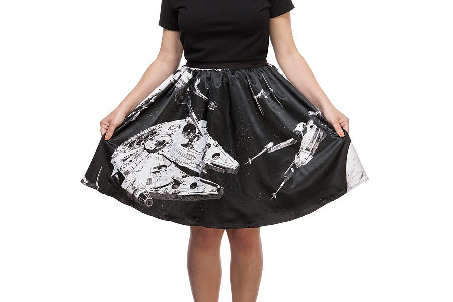 Thinkgeek - Her Universe x Star Wars space collage skirt