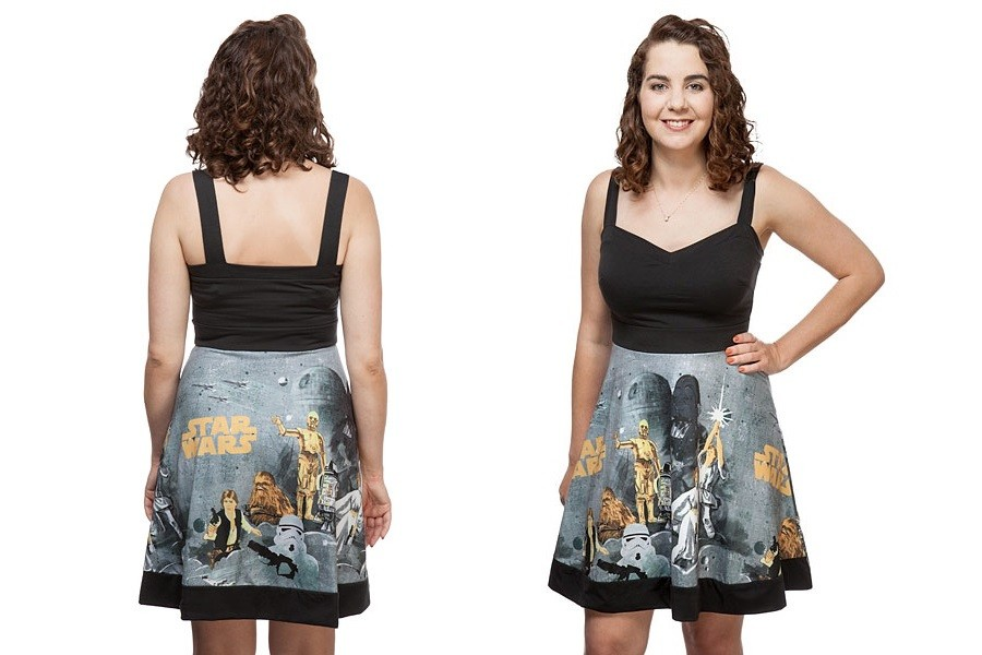 Thinkgeek - Her Universe x Star Wars vintage pattern dress