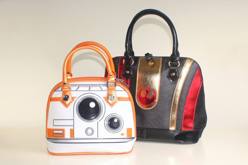 Bioworld - Poe Dameron helmet dome handbag (with Loungefly BB-8 mini dome bag)