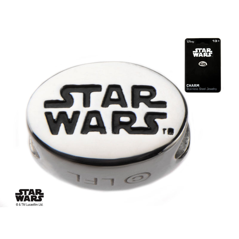 Body Vibe - Stainless Steel Star Wars Engraved Logo Bead Charm