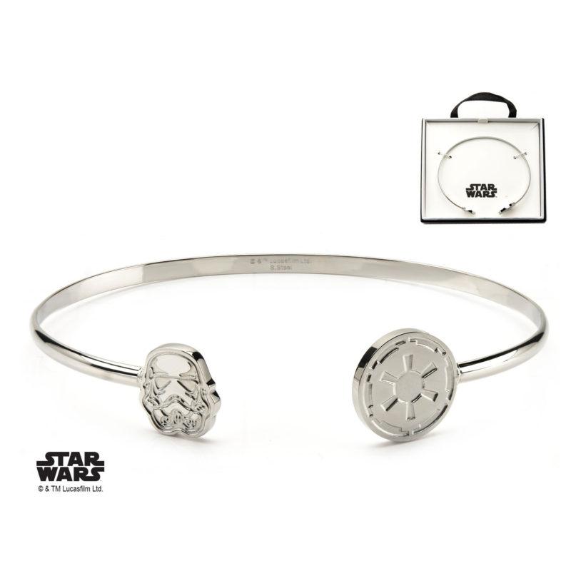 Body Vibe - Women's Stainless Steel Star Wars Stormtrooper Cuff Bangle Bracelet