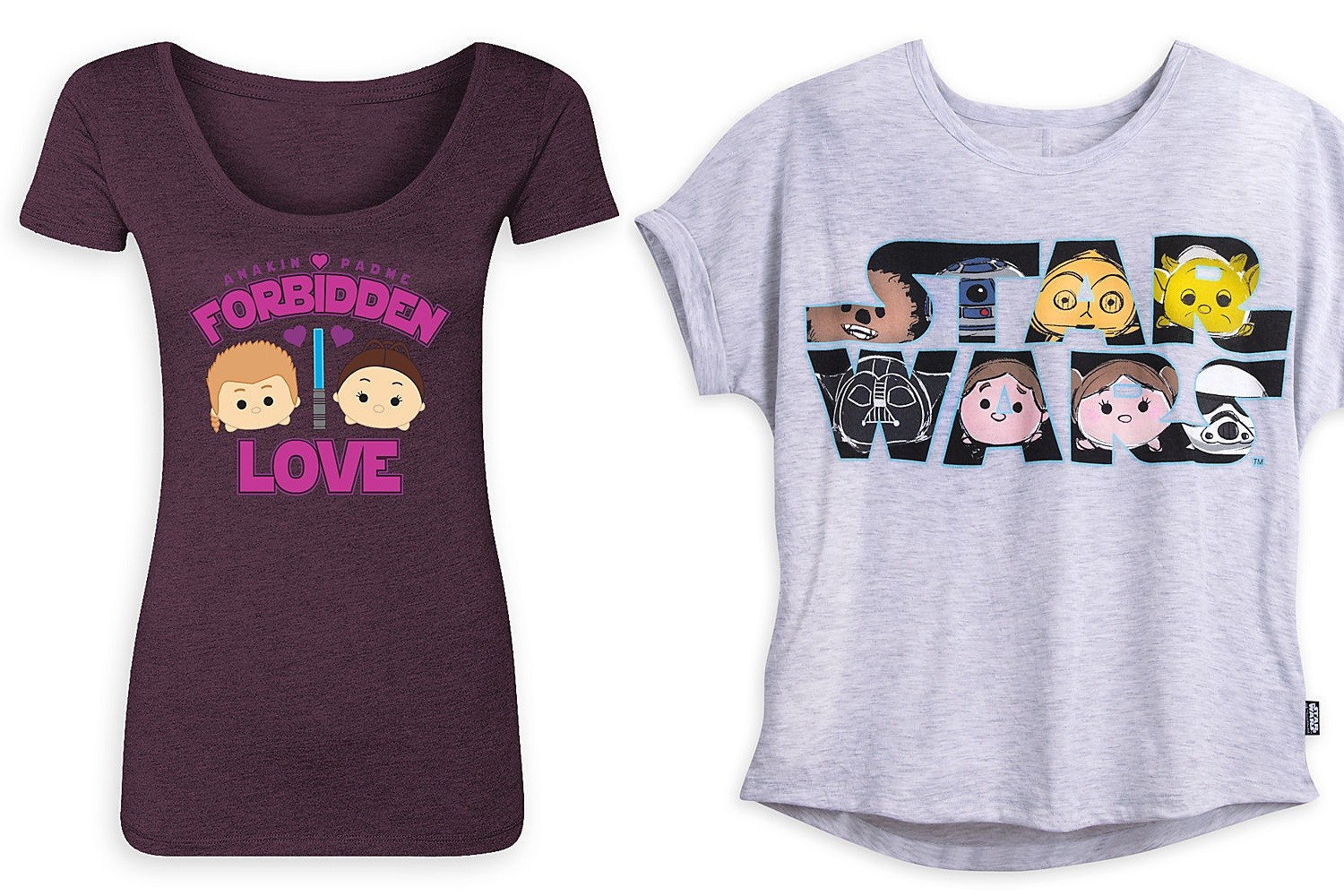New women's Star Wars Tsum Tsum apparel