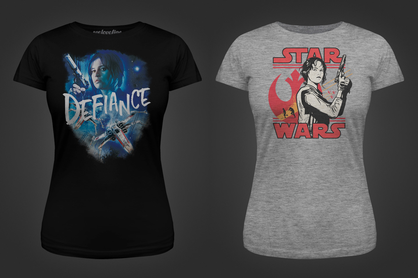 Women's Rogue One tees at We Love Fine