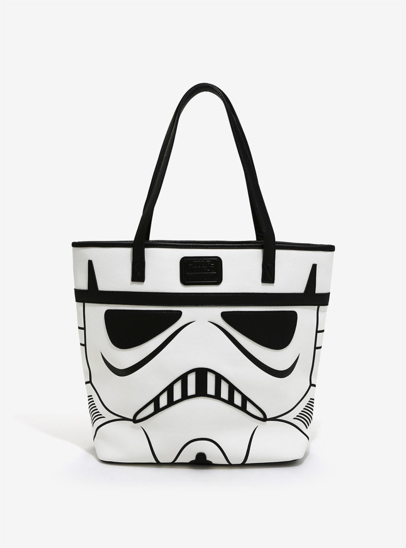 Loungefly 2-sided Darth Vader & Stormtrooper tote bag available at Box Lunch