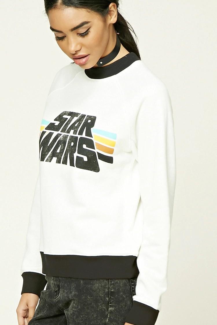 Women's Star Wars logo ringer sweatshirt at Forever 21