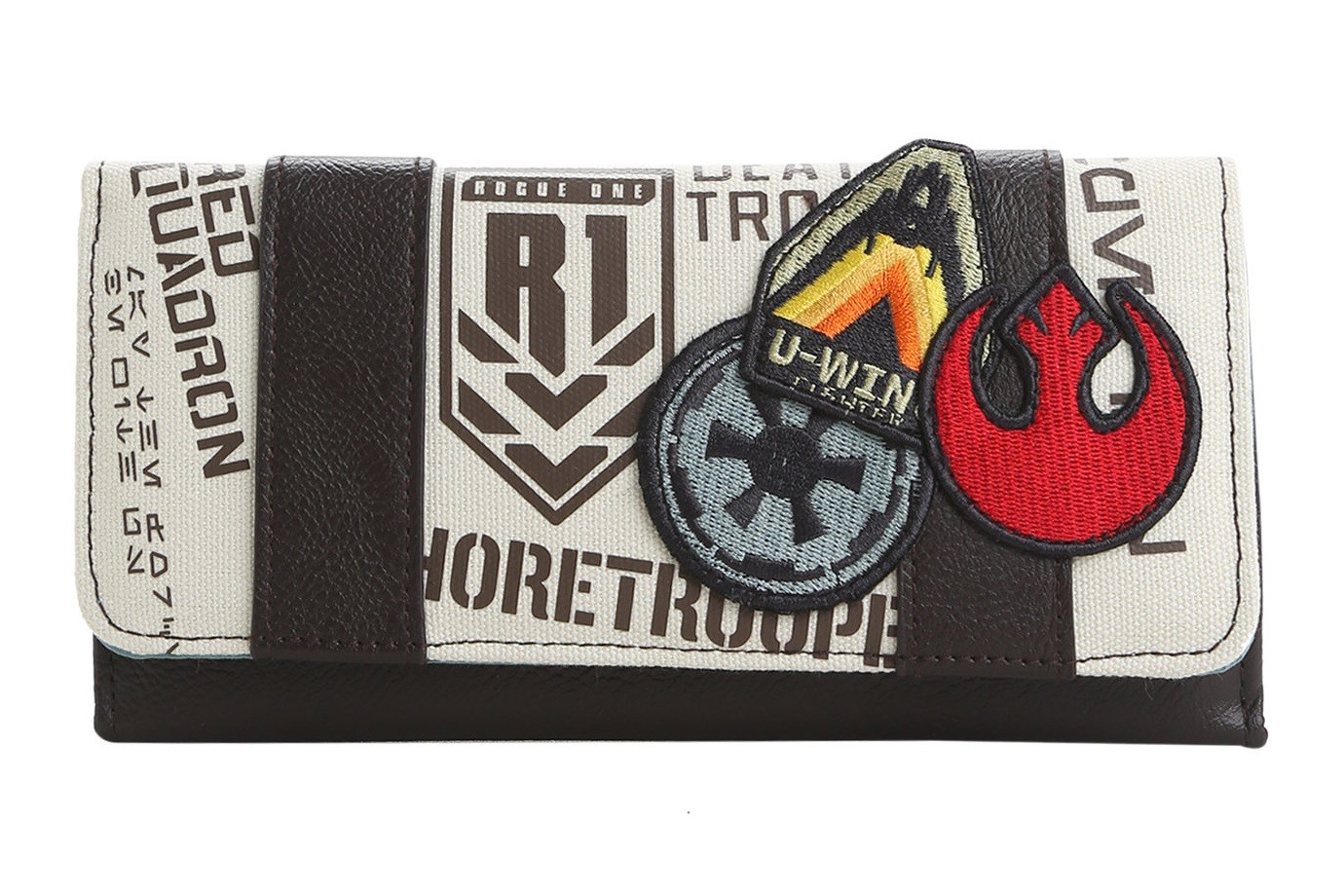Loungefly Rogue One patches flap wallet