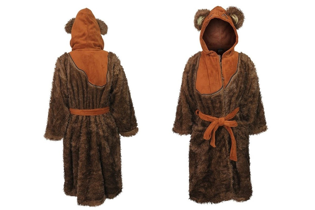 Women's Ewok fleece bathrobe
