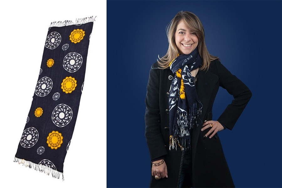 R2-D2 & C-3PO blanket scarf at ThinkGeek
