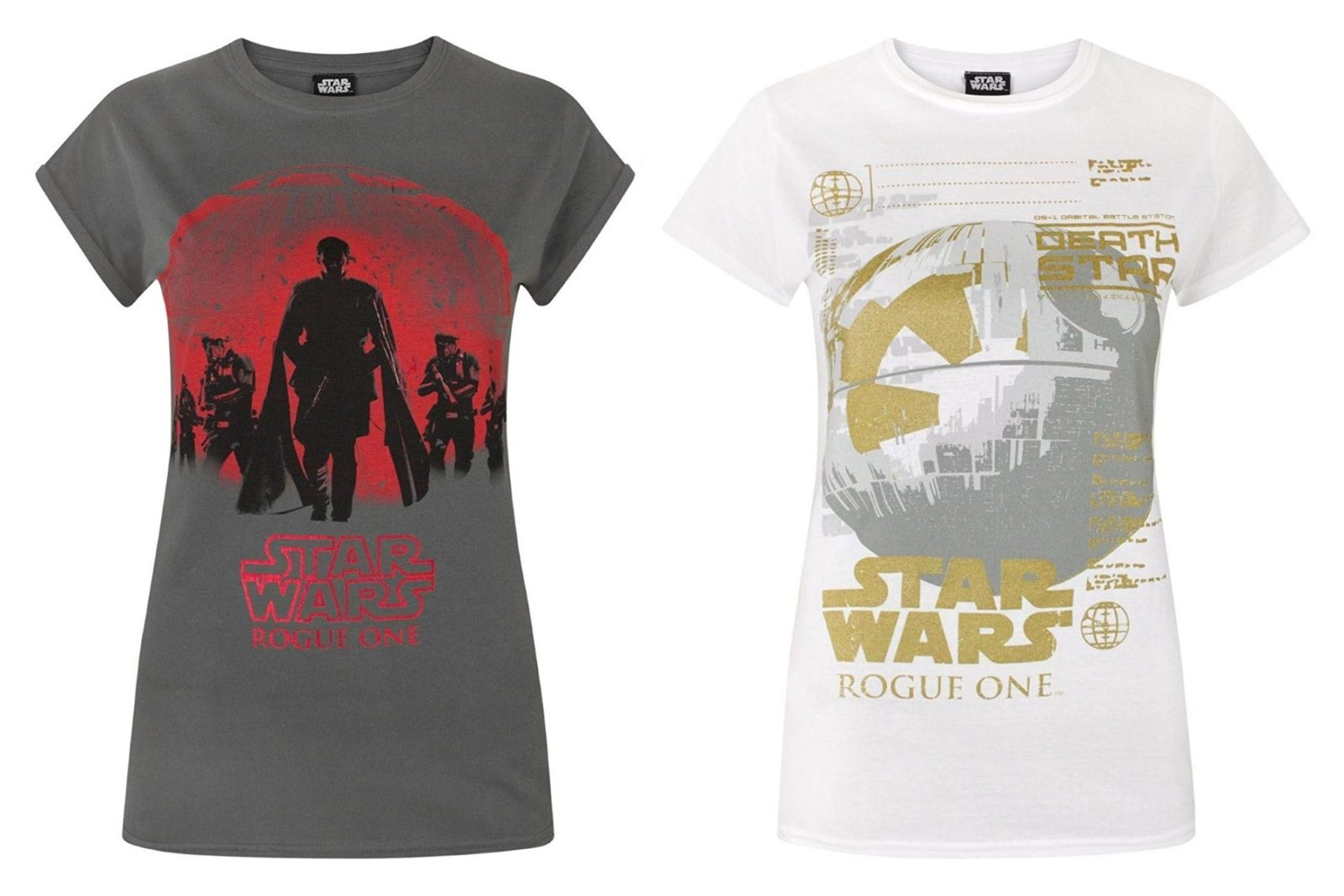 Women's Rogue One tees on Amazon