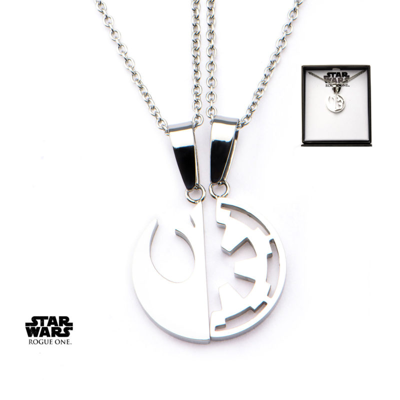 Body Vibe x Star Wars Rogue One Rebel & Empire 'Best Friends' necklace set available at Entertainment Earth