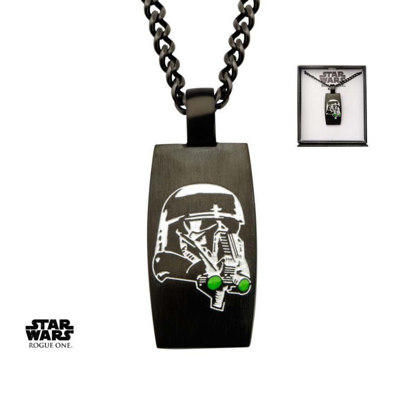 Body Vibe x Star Wars Rogue One Deathtrooper black necklace available at Entertainment Earth