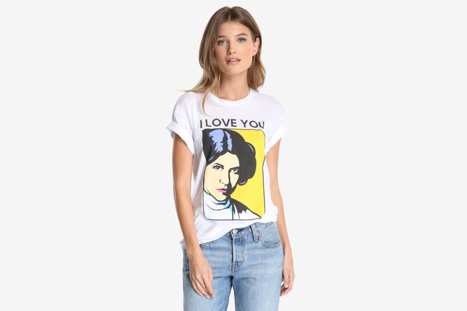 Women's Princess Leia 'I Love You' tee