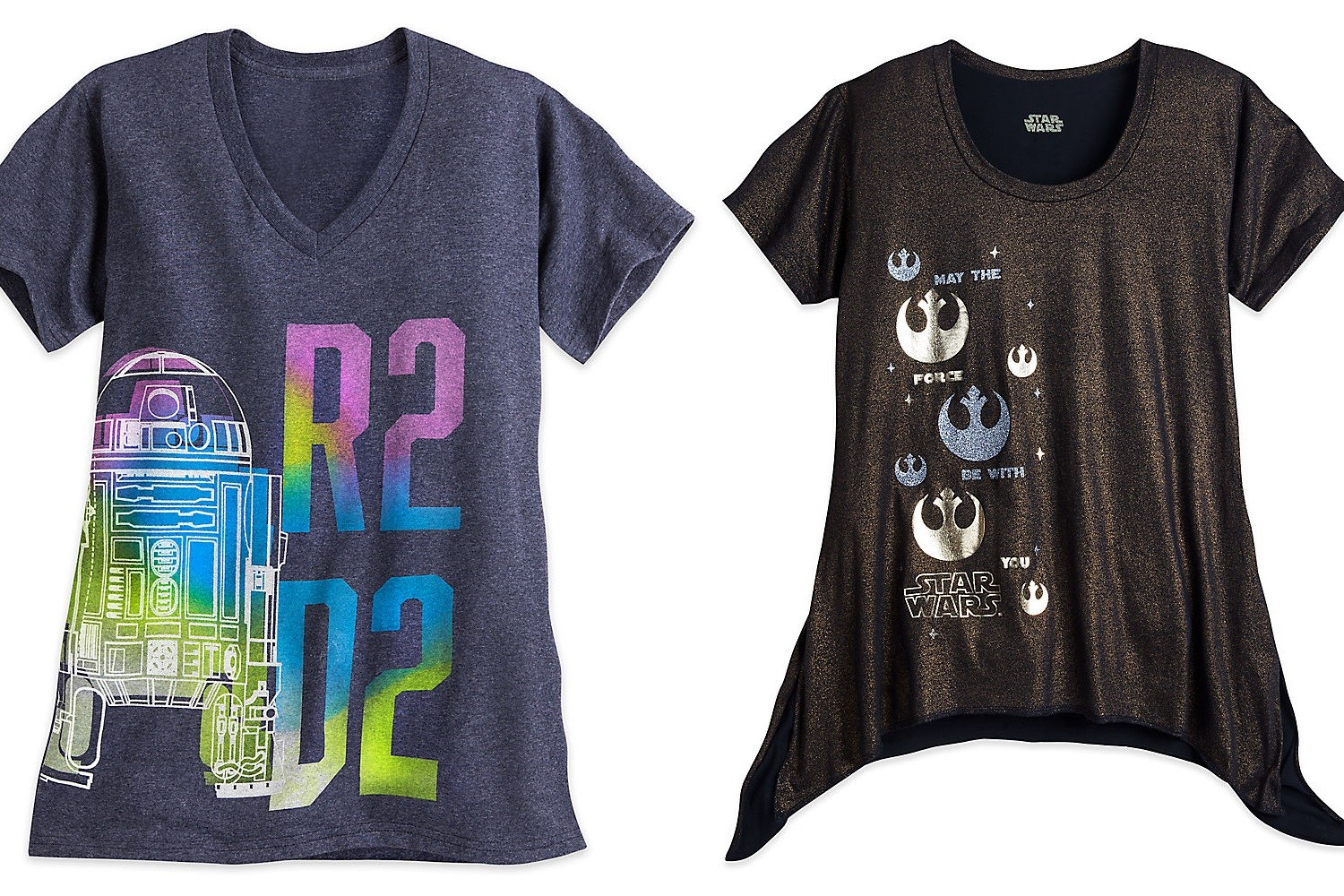 New women's Star Wars tops at the Disney Store