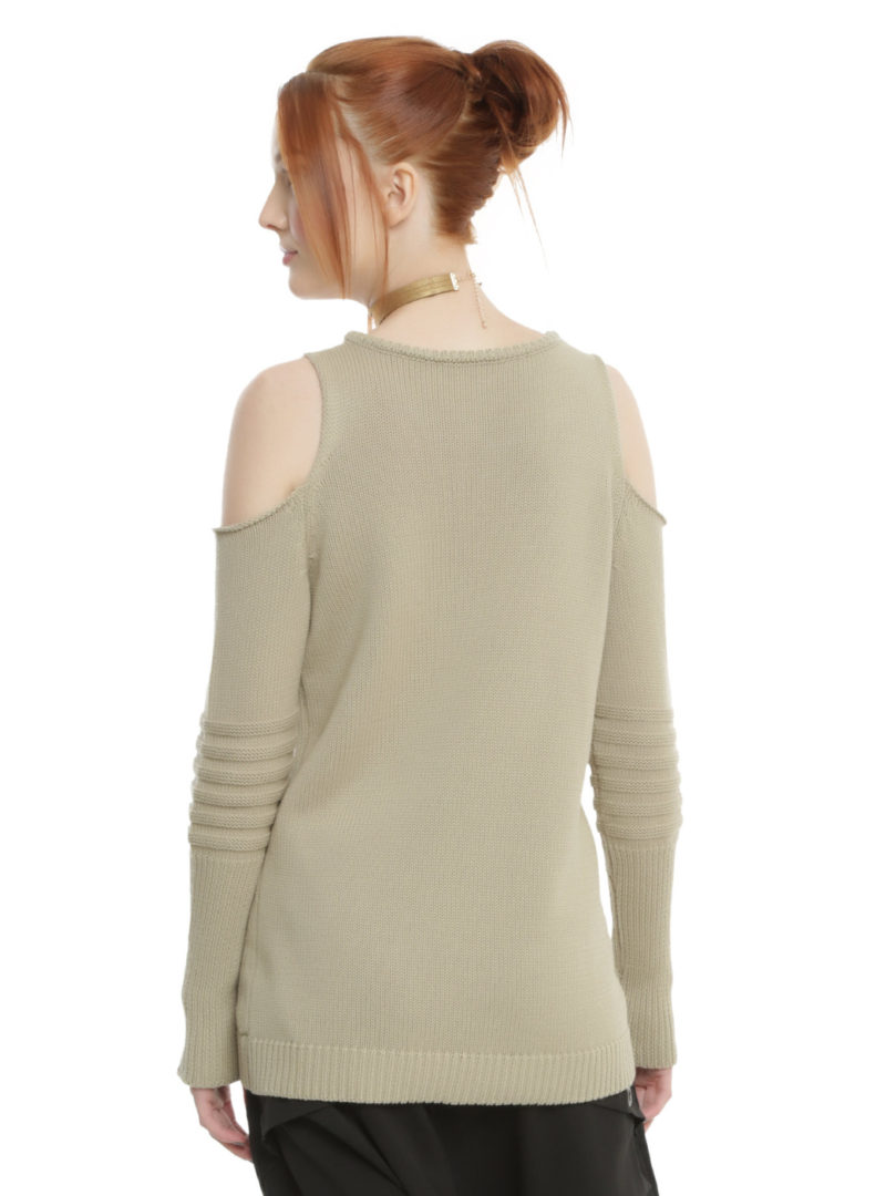 Women's Rogue One Rebel cold shoulder sweater available at Hot Topic