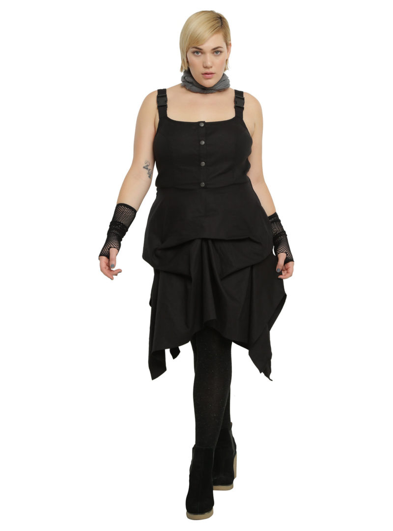 Women's plus size Rogue One Rebel Alliance flight suit dress available at Hot Topic