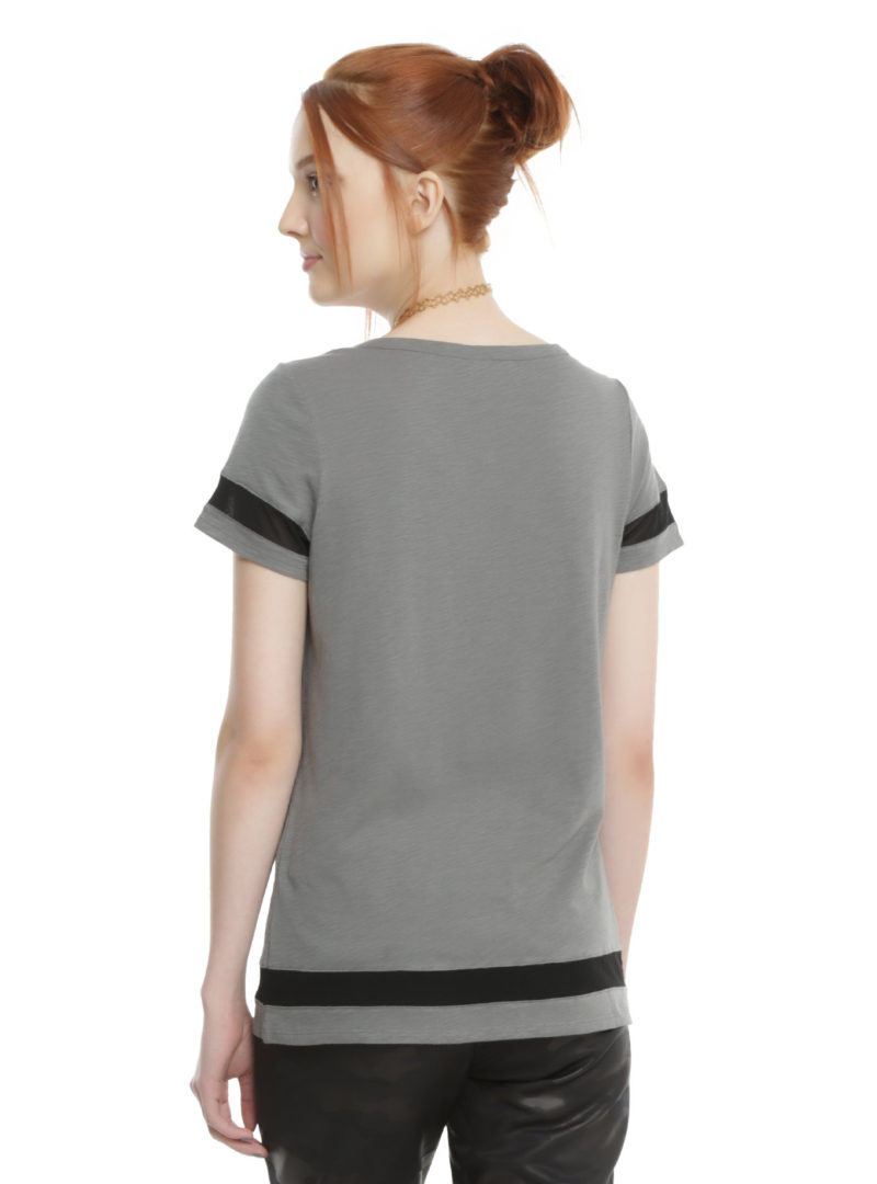 Women's Rogue One Jyn mesh insert top available at Hot Topic