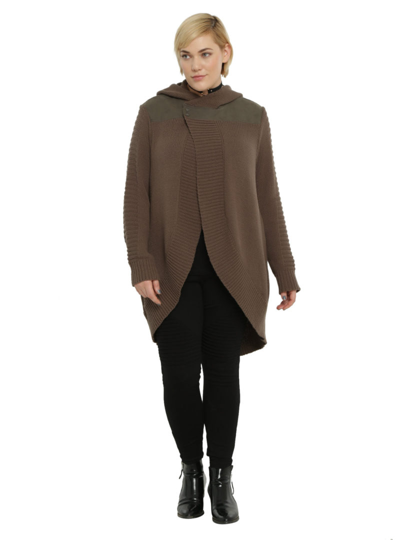 Women's plus size Rogue One Jyn open cardigan available at Hot Topic