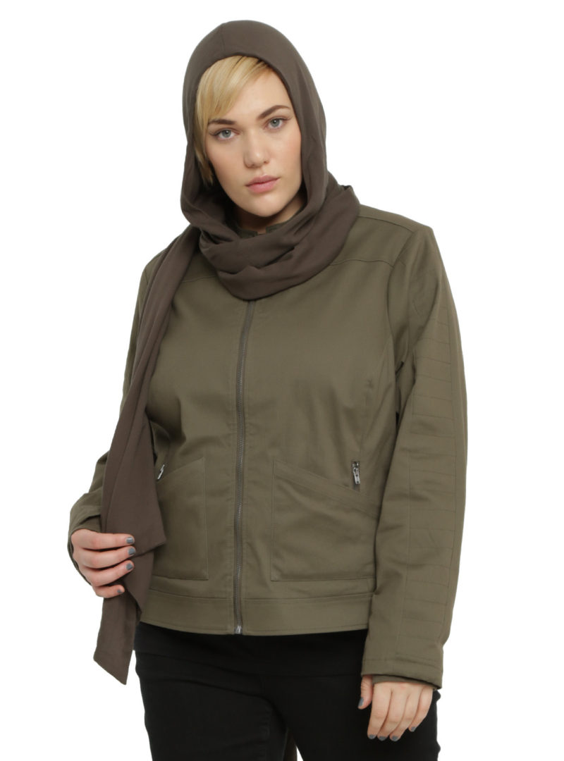 Women's plus size Rogue One Jyn Rebel Alliance jacket available at Hot Topic