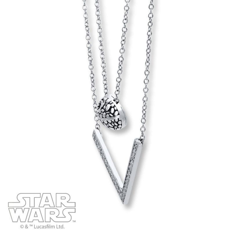 Kay Jewelers x Star Wars Death Star Diamond double necklace