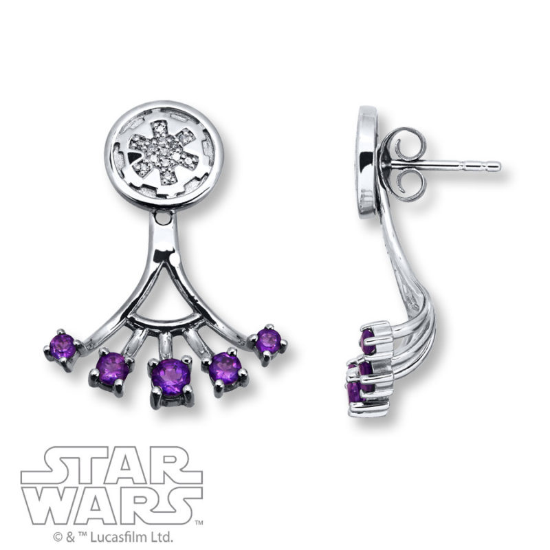 Kay Jewelers x Star Wars Galactic Empire Amethyst stud earrings