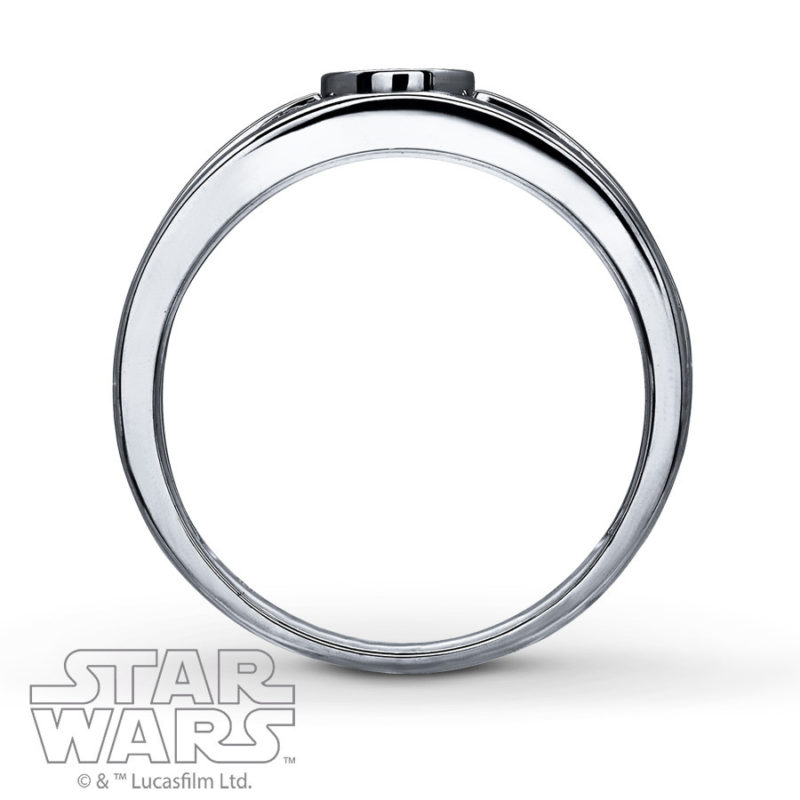 Women's Sterling Silver Star Wars ring available from Kay Jewelers