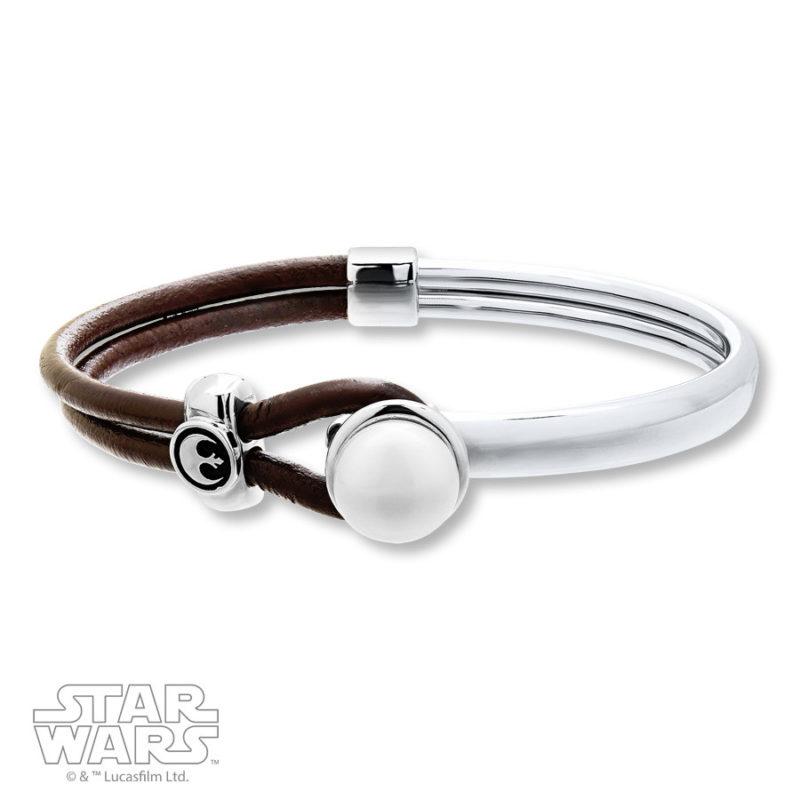 Kay Jewelers x Star Wars Rebel Alliance Pearl & Leather bracelet