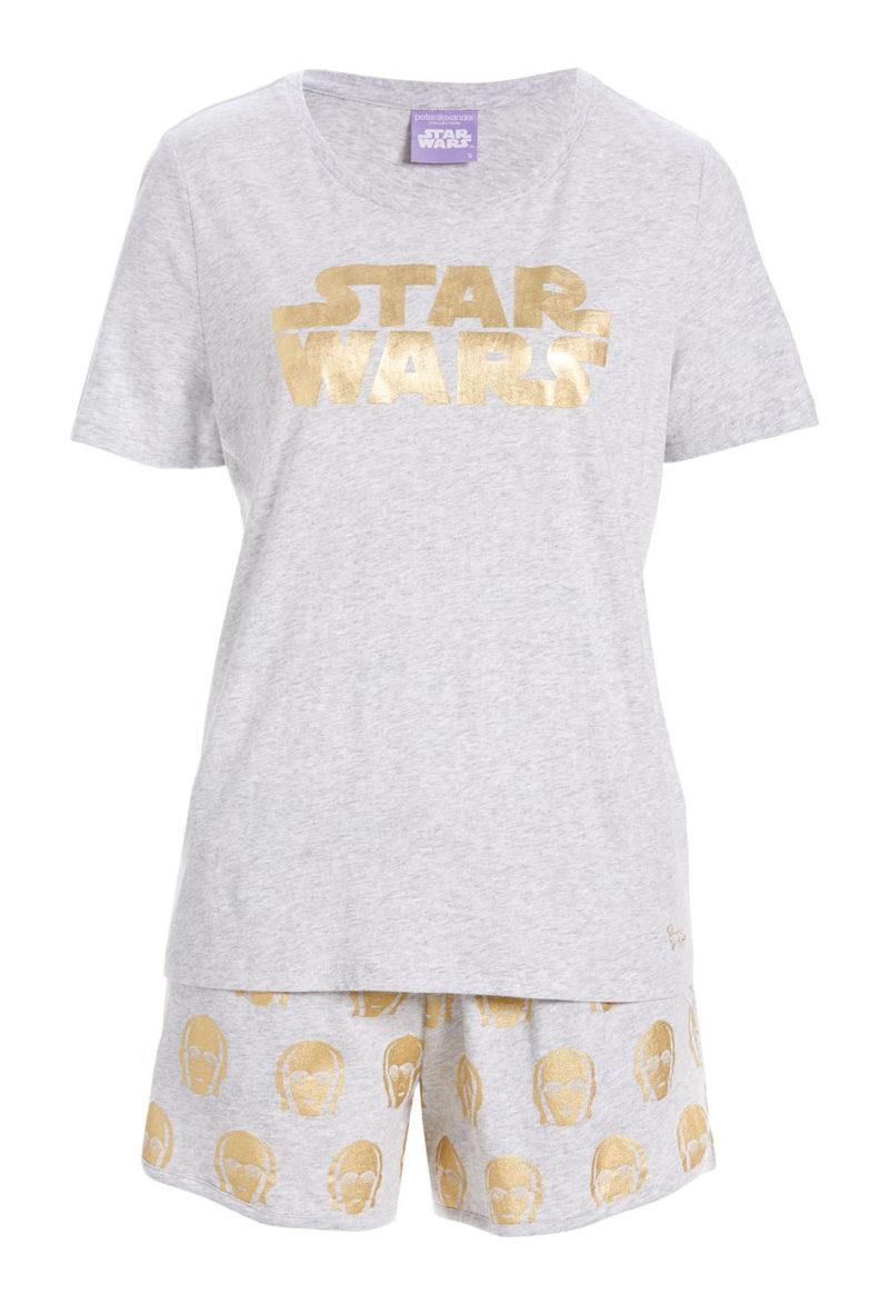 Women's C-3PO short sleepwear set available at Peter Alexander