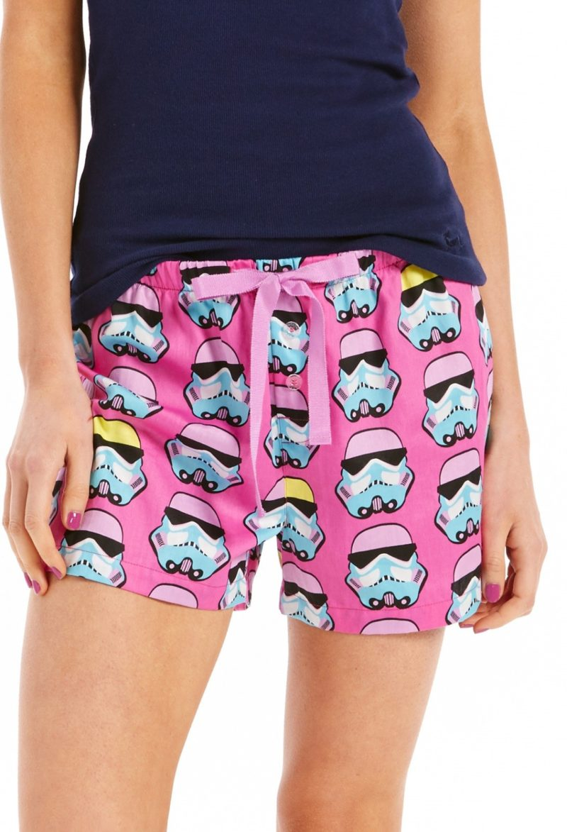 Women's Stomtrooper sleep shorts available at Peter Alexander