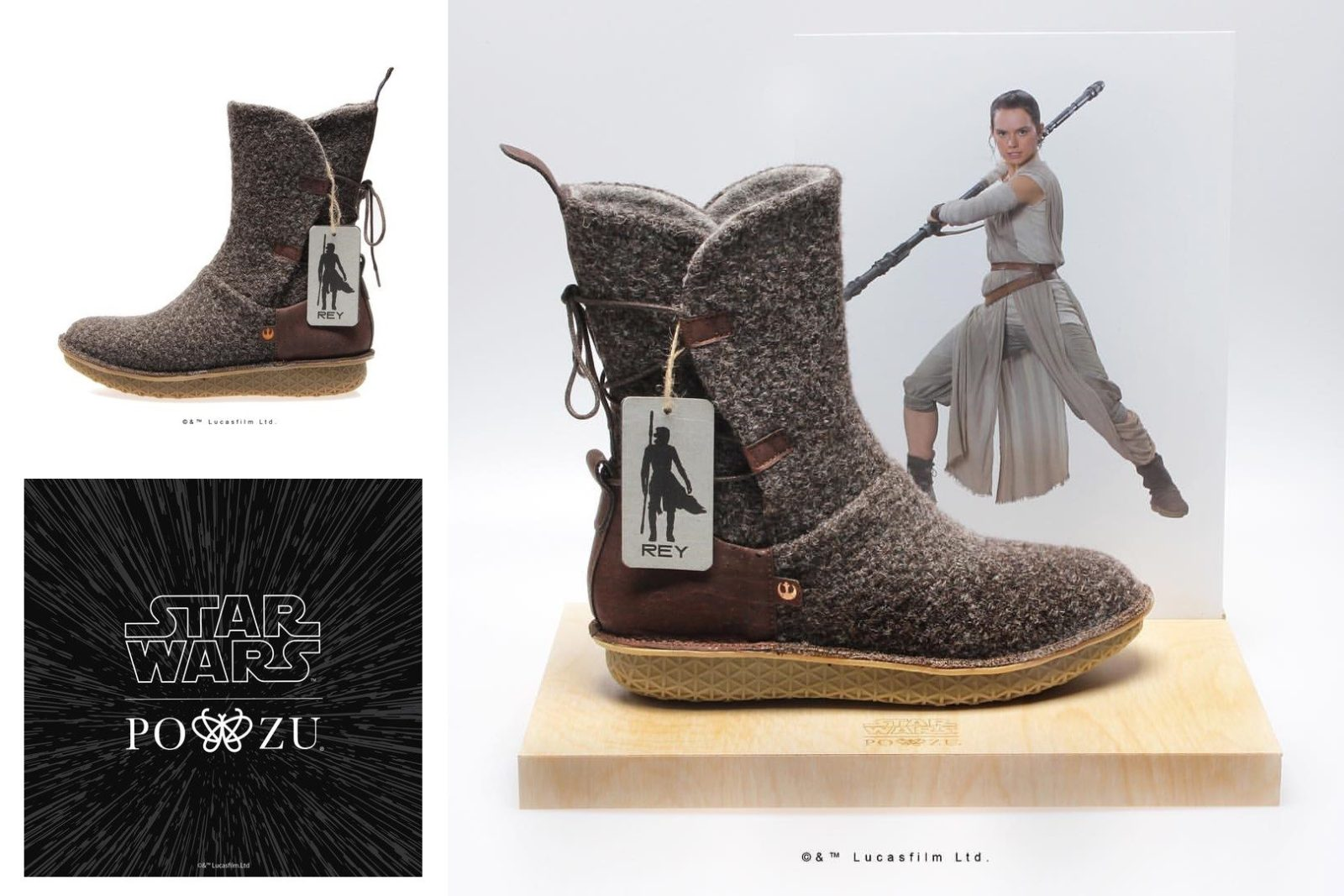 PO-ZU x Star Wars Rey boot preview!