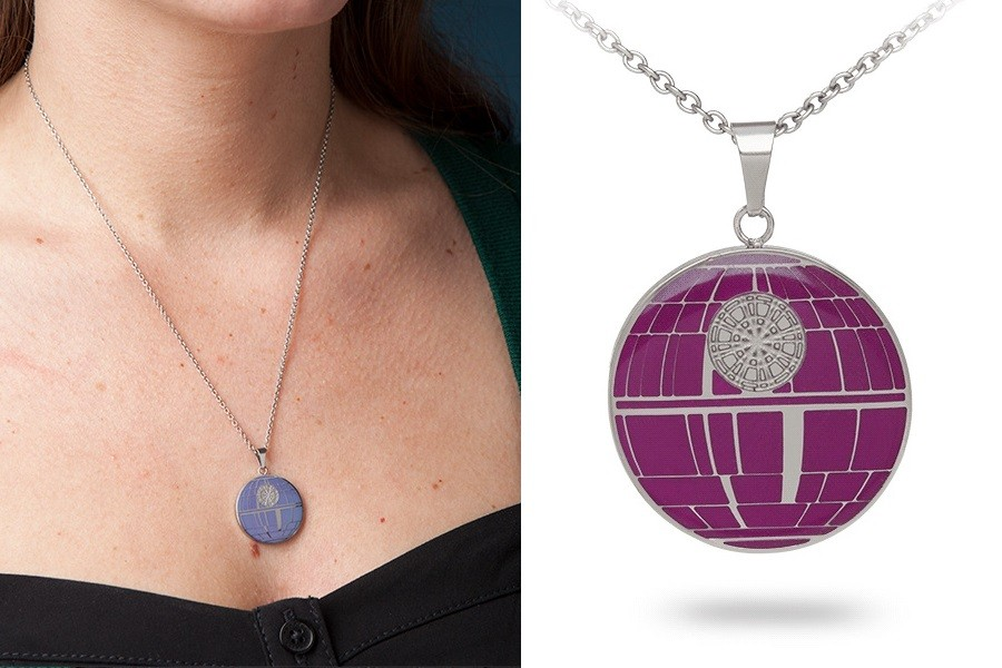 Death Star mood necklace available at ThinkGeek