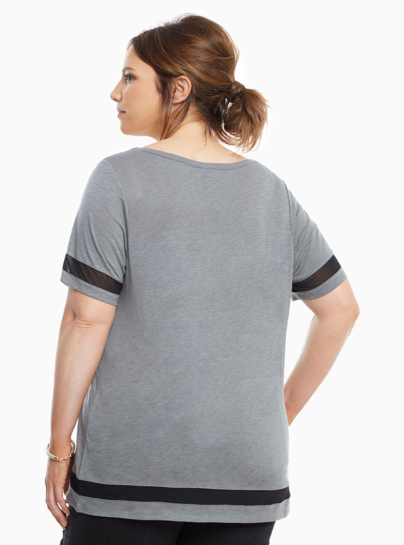 Women's plus size Rogue One Jyn mesh insert top available at Torrid