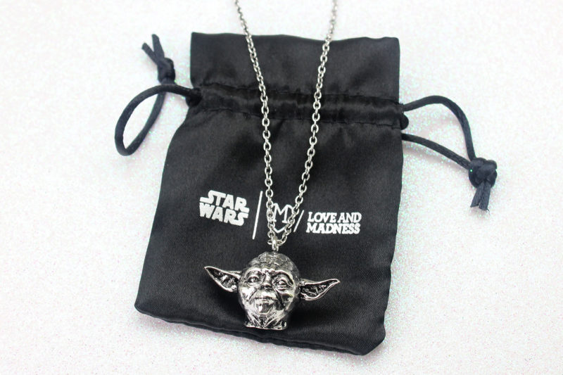 Love And Madness x Star Wars Yoda 3D 'doorknocker' long necklace