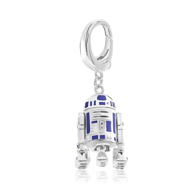 Sterling Silver R2-D2 charm (Disney Designer Jewelry Collection) available from the Disney Store