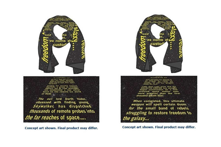 New Opening Crawl scarves coming soon