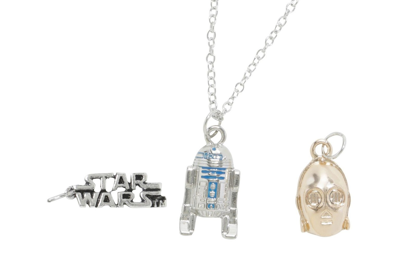 New Star Wars droids charm necklace