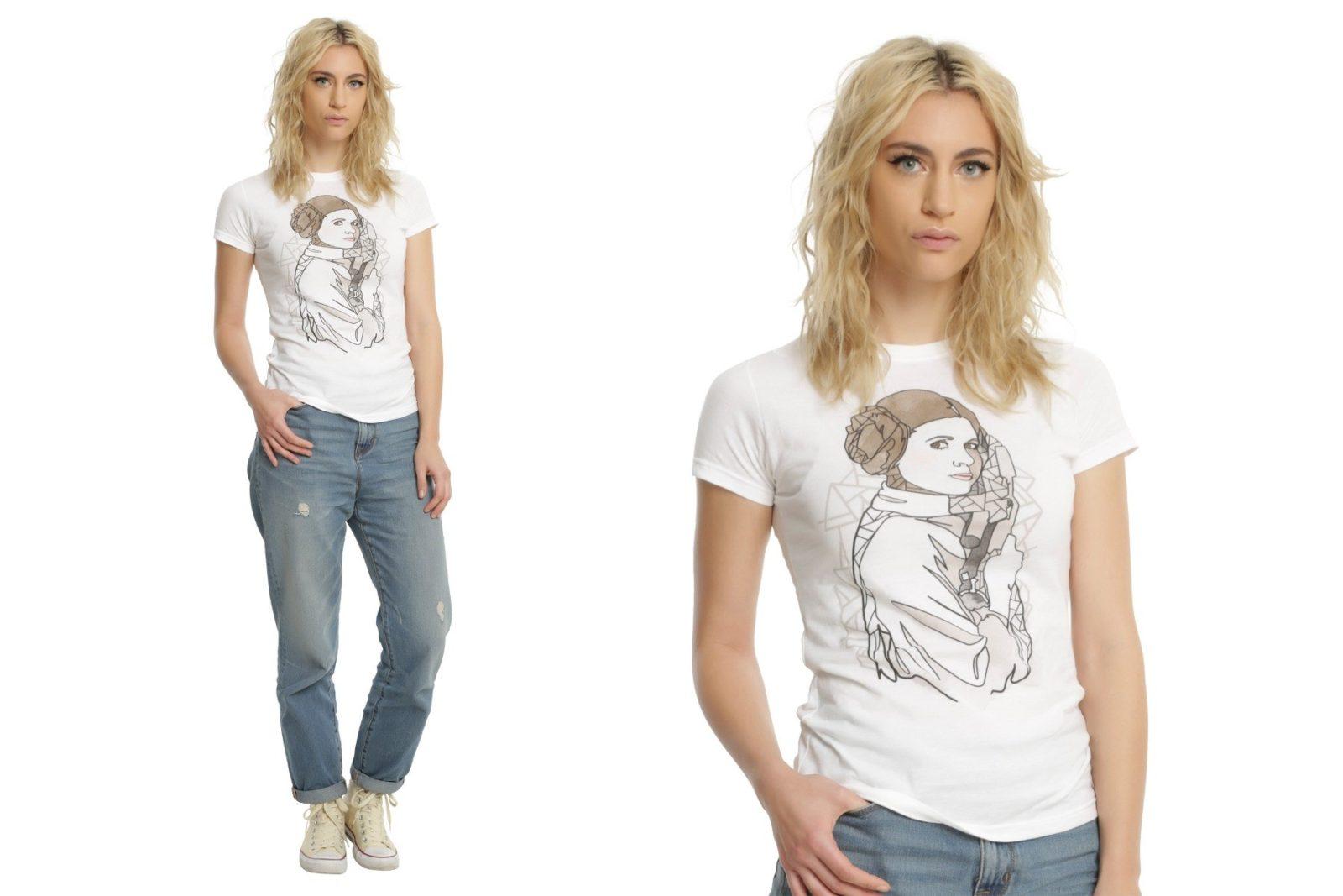 New women's Princess Leia t-shirt at Hot Topic