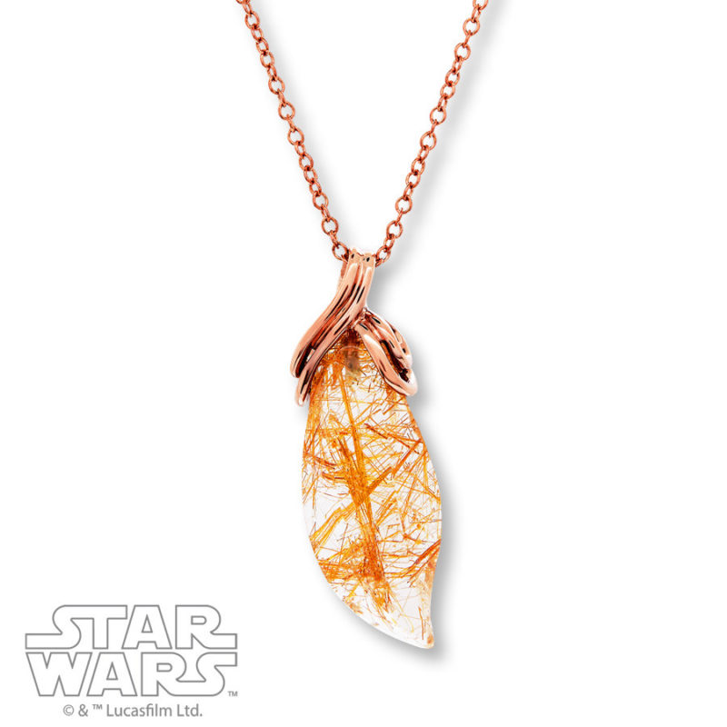 Kay Jewelers x Star Wars Rogue One Quartz crystal necklace (Sterling Silver/14K plated)