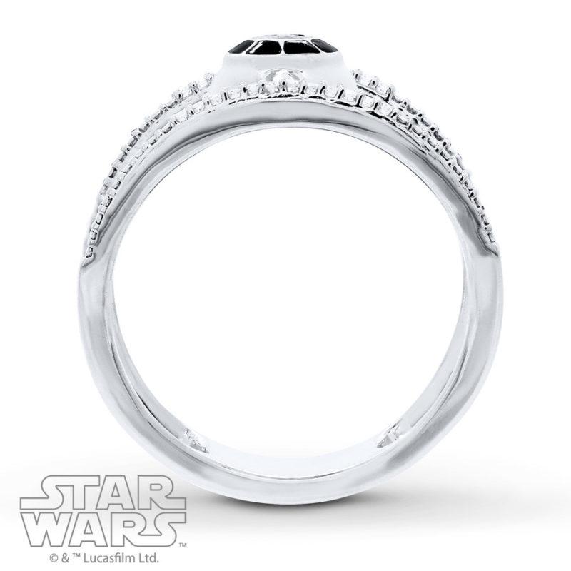 Kay Jewelers x Star Wars Sterling Silver TIE Fighter Diamond ring