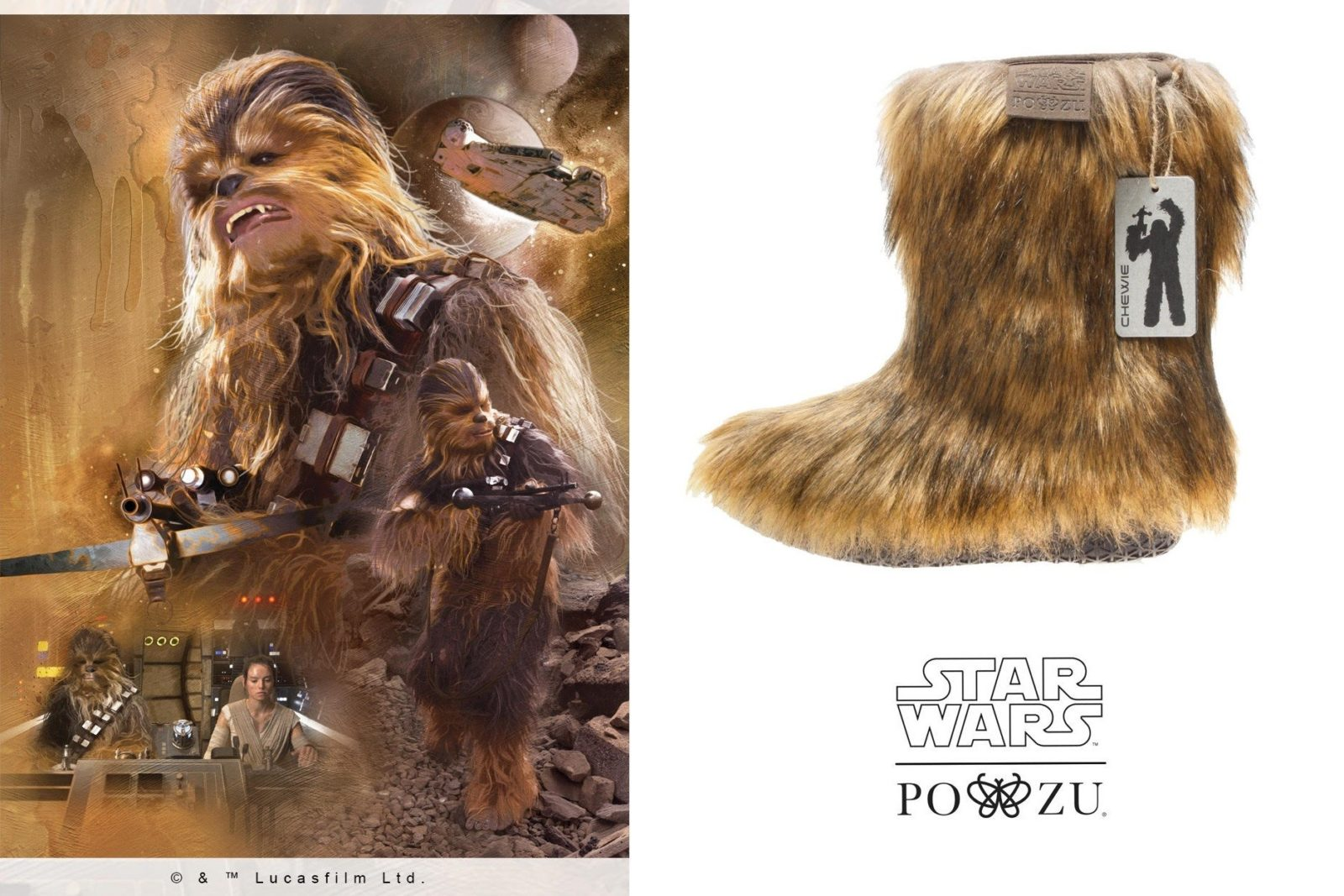 New Po-Zu x Star Wars Chewie boot preview!
