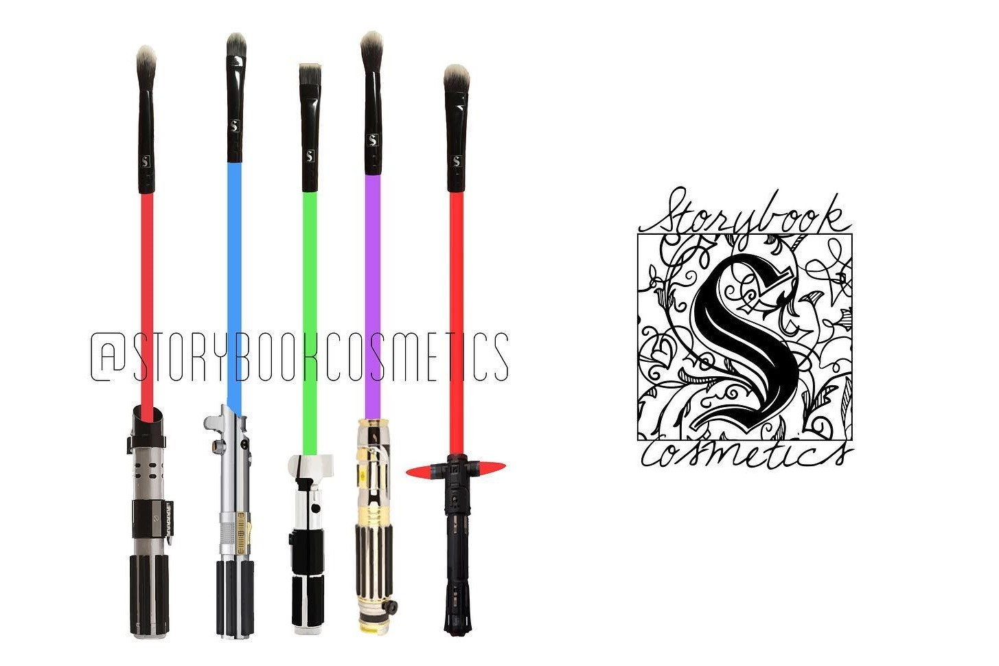 Storybook Cosmetics Lightsaber makeup brushes