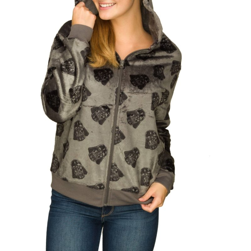 Women's Darth Vader plush hoodie available at Walmart