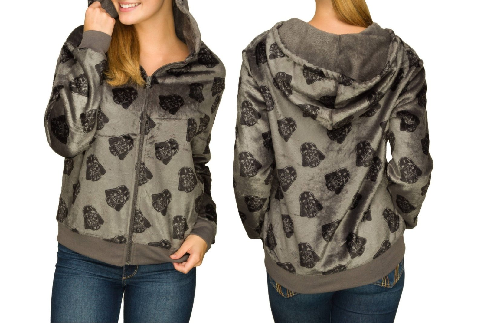 New women's Darth Vader plush hoodie