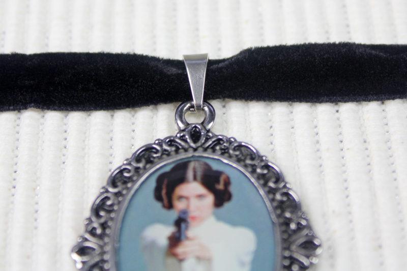 Star Wars Princess Leia cameo velvet choker necklace by Body Vibe