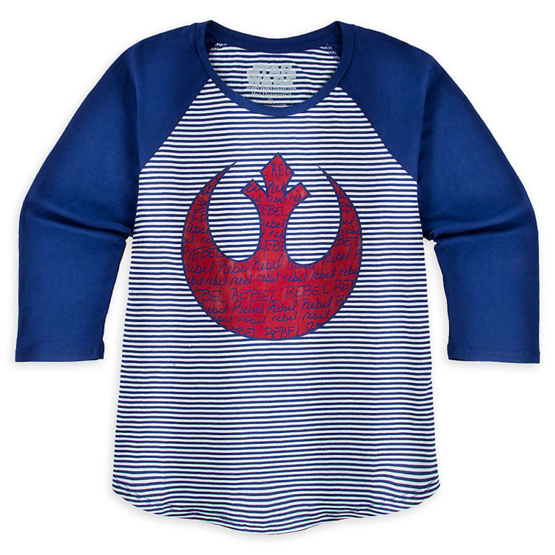 Women's Her Universe x Star Wars Rebel Alliance raglan tee at the Disney Store