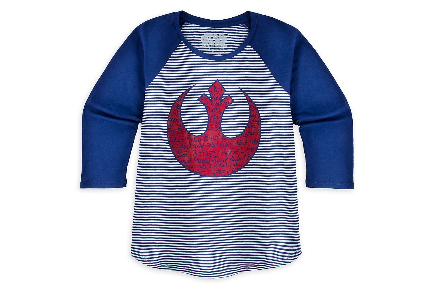 New Her Universe Rebel Alliance raglan tee