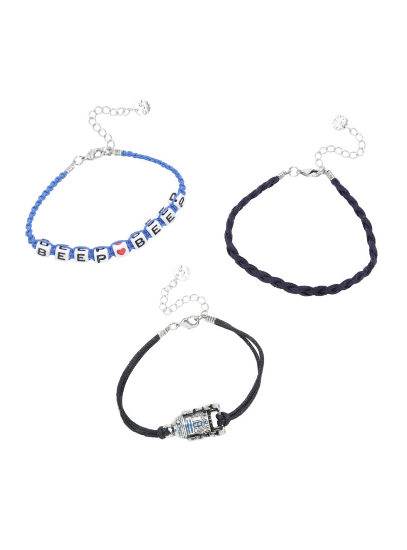 Star Wars R2-D2 Beep Beep cord bracelet set at Hot Topic