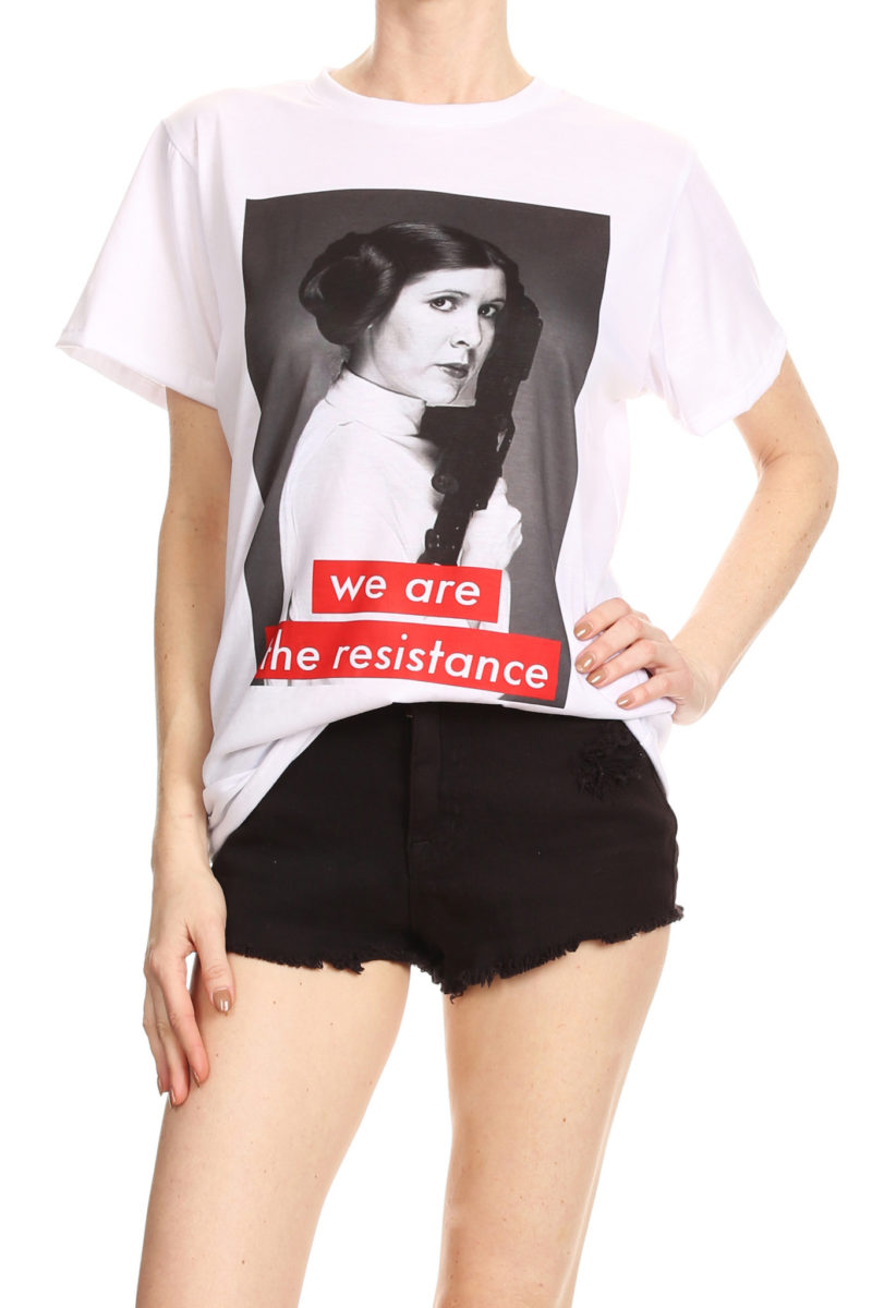Star Wars Princess Leia 'We Are The Resistance' t-shirt by Poprageous